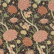 Moda William Morris by The V&A - 5646 - Reproduction Floral, Pink on Black - 7300 19 - Cotton Fabric
